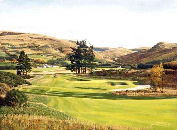 Gleneagles, PGA Centenary Course, Scotland. Graeme Baxter Print.