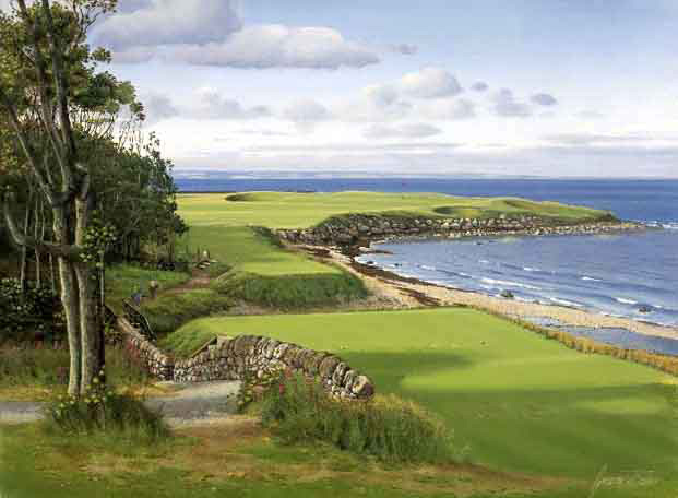 Kingsbarns, 15th Hole, Scotland. Graeme Baxter Print.