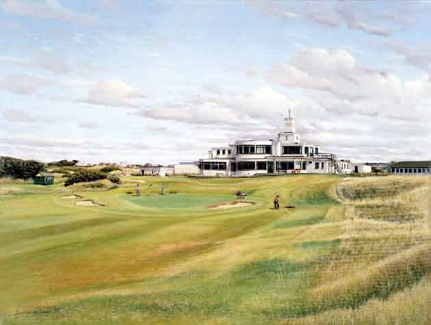 Royal Birkdale 18th Hole, England. Graeme Baxter Print.