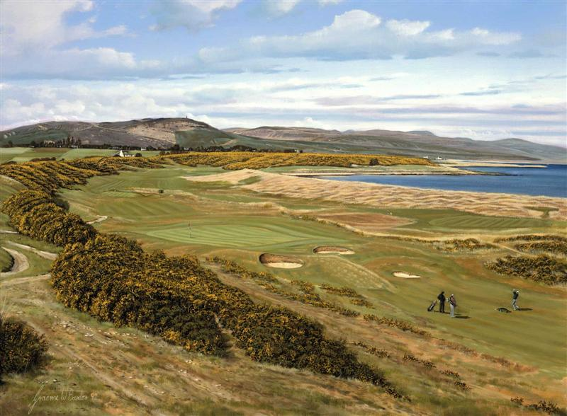Royal Dornoch, 7th Hole, Scotland. Graeme Baxter Print.