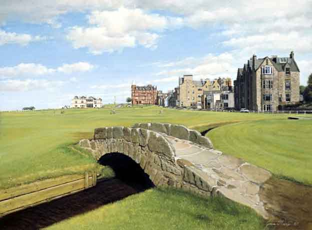 St. Andrews, Swilcan Bridge, Scotland. Graeme Baxter Prints.