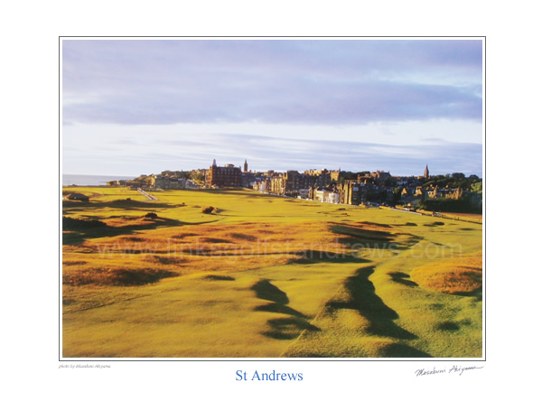 Early Morning at the Old Course St Andrews. by Masakuni Akiyama